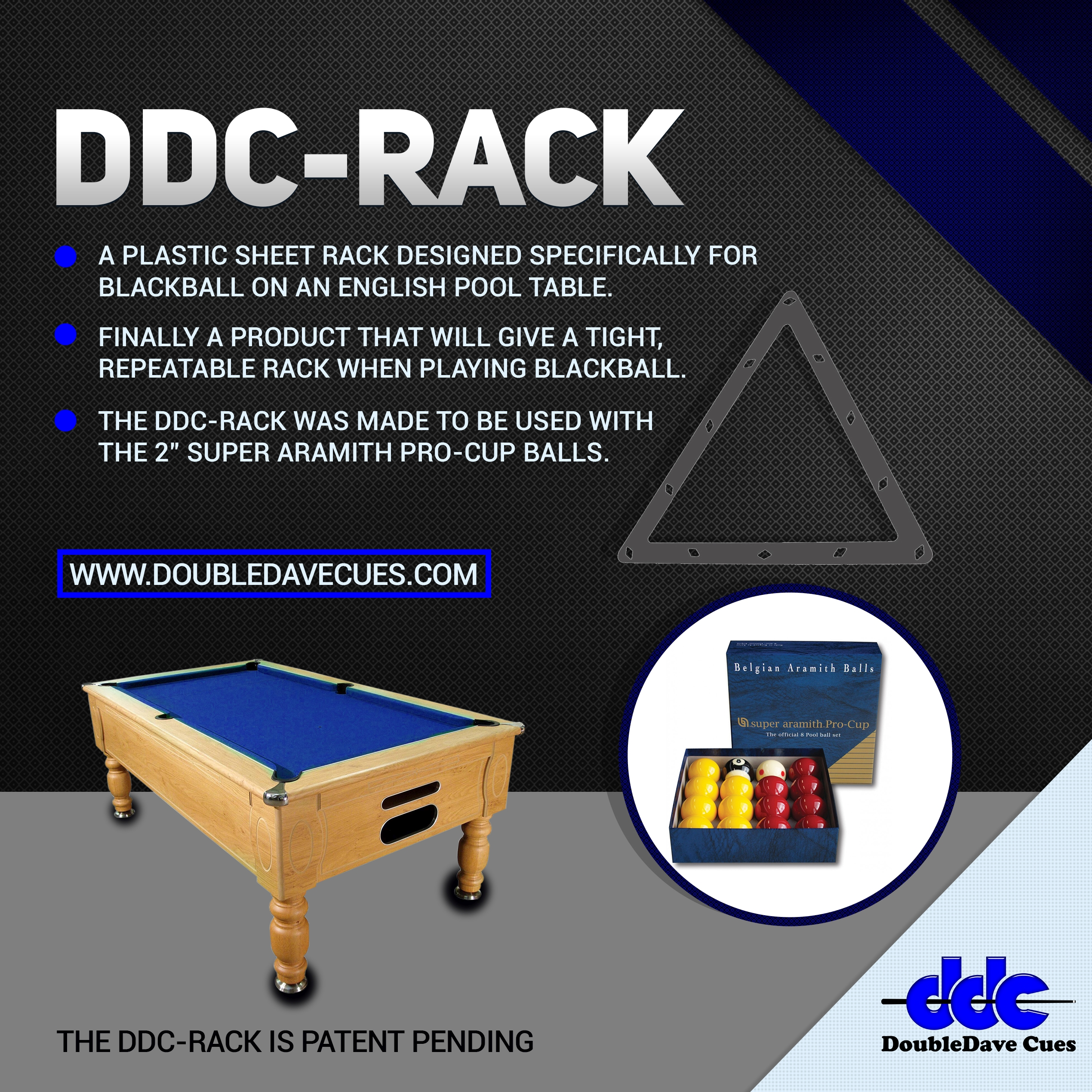 DDC-Rack für BlackBall/English Pool