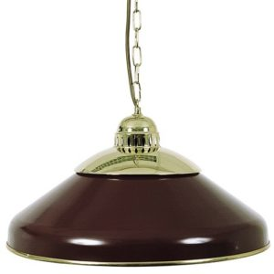 Einzelne Lampe Braun-Rot