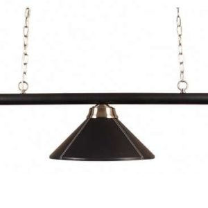 Dreifach Lampe Schwarz/Leder