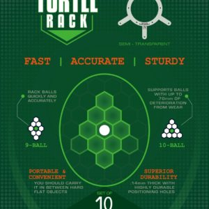 Turtle Rack 9/10-Ball 10-er Packung